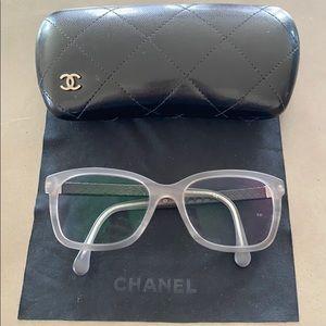 Chanel light blue eyeglasses